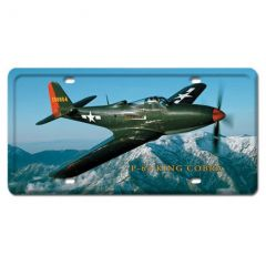 P-63 King Cobra License Plate Cover