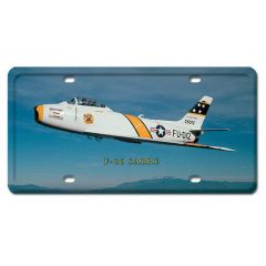 F-86 Sabre License Plate Cover