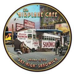 Airplane Cafe Large Aviation Sign