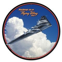 Flying Wing Large Aviation Metal Sign