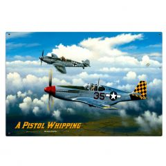 A Pistol Whipping Large Aviation Metal Sign