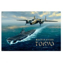 Destination Tokyo Large Aviation Metal Sign