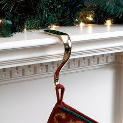 Plain Brass Stocking Holder