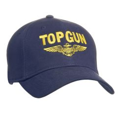 Top Gun with Gold Navy Wings Cap