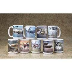 Classic Military Aircraft Ceramic Coffee Mugs