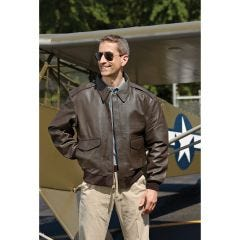 Classic Leather Bomber Jacket (A-2)