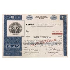 LTV Ling – Temco – Vought, Inc Certificate of Stock