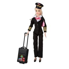 Commercial Pilot Doll  (Hair Color Varies)