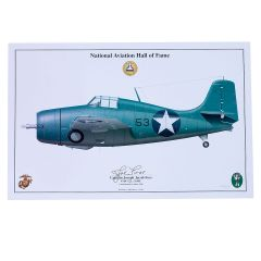 Limited Edition Signed Aircraft Print - Joe Foss F4F Wildcat Signed Print