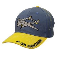 P-38 Lightning Embroidered Cap