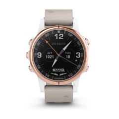 Garmin D2 Delta S Watch in White/Rose Gold (White Band 42mm )