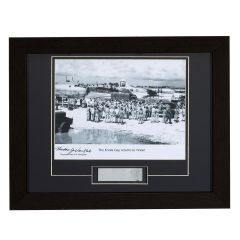 """Limited Edition Enola Gay Returns to Tinian Framed Print Signed by """"Dutch"""" Van Kirk"""
