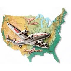 3D Connie with USA Map Sign