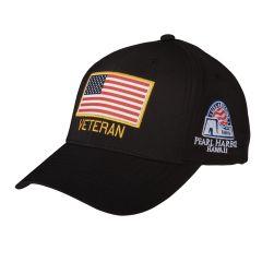 Pearl Harbor Veteran with American Flag Cap