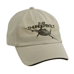 P-47 Thunderbolt WWII Aircraft Printed Cap