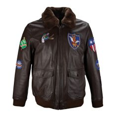 Flying Tigers Leather Patch Jacket