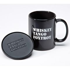 Whiskey Tango Foxtrot Coffee Mug and Coaster Set