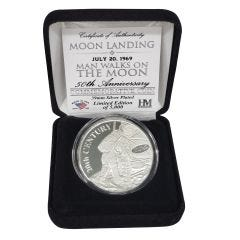 "Limited Edition ""Man Walks On Moon"" Mint Coin"