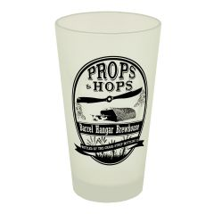 Props & Hops Frosted Pint Glass