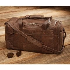 Pilot Wings Leather Flight Bag