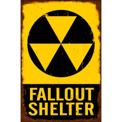 Fallout Shelter Metal Sign
