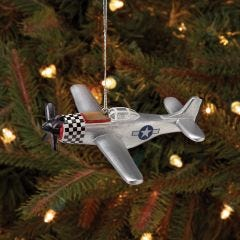 P-51 Mustang Christmas Ornament
