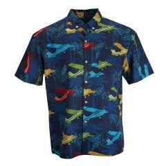 High Wing  Short-Sleeved Aloha Shirt