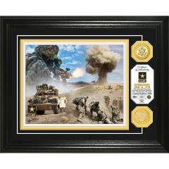 U.S. Army Framed Wall Display Photo Mint with Bronze Collectors Coin