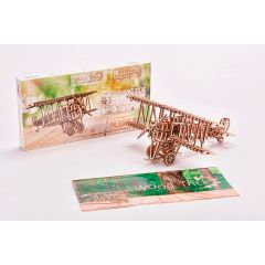 Mechanical Biplane 3D Puzzle Wood Model