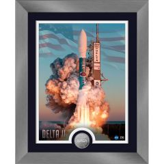 Delta II Framed Print with Mint Coin
