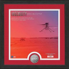 Ingenuity Helicopter First Flight On Mars Framed Print with Mint Coin