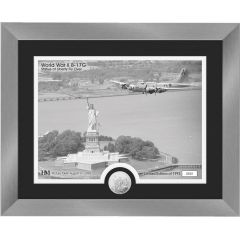 "B-17G ""Statue of Liberty Fly Over"" Framed Print with Mint Coin"