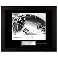 "Limited Edition Enola Gay Framed Print Signed by ""Dutch"" Van Kirk"