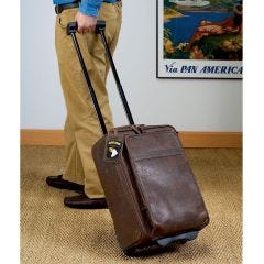 Leather Aero Squadron Wheeled Carry-On Bag