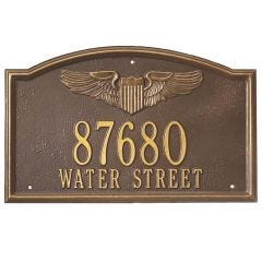 Pilot Wings Address Wall Plaque