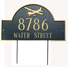 Airplane House Marker (Lawn)