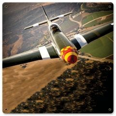 "P-51 Mustang (Olive)  12"" x 12"""