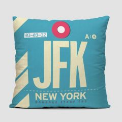 United States Airport Throw Pillows