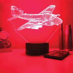 A-6E Intruder 3D Aircraft Color Changing Lamps