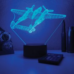 P-38 Lightning 3D Aircraft Color Changing Lamps