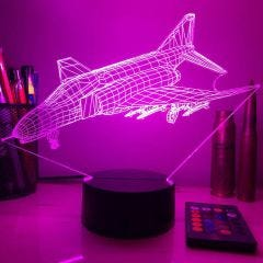 F-4 Phantom 3D Aircraft Color Changing Lamps