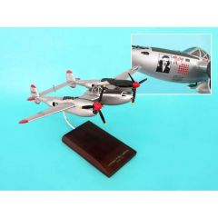 P-38j Lightning Bong/Marge 1/40 (AP38bt) Mahogany Aircraft Model