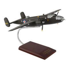 B-25b Mitchell Olive 1/48 (AB25jdt) Mahogany Aircraft Model