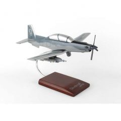 AT-6 1/32 Gray Camouflage Mahogany Aircraft Model