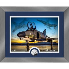F-4 Phantom Framed Print with Mint Coin