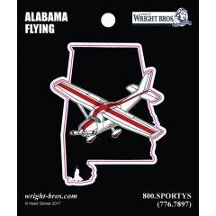 Alabama State with Airplane Sticker