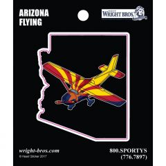 Arizona State with Airplane Sticker