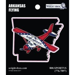 Arkansas State with Airplane Sticker