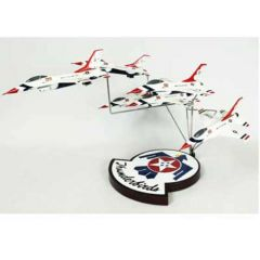 F-16 Thunderbirds Formation Mahogany Aircraft Model