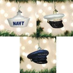 United States Military Cap Ornaments Complete Set